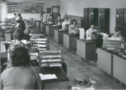 The Home Trade Invoice Department in the early 1960's
